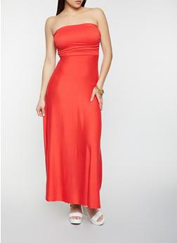Soft Knit Strapless Maxi Dress - 1094073376201
