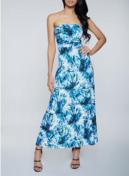 Tie Dye Tube Maxi Dress - 1094073376202