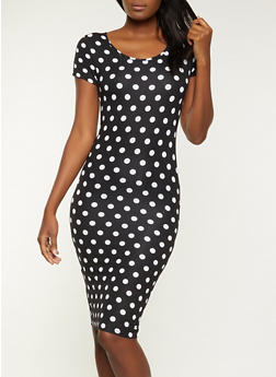 Polka Dot T Shirt Dress - 1094073376713