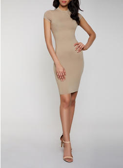 Mock Neck Bodycon Dress | 1094073379612 - 1094073379612