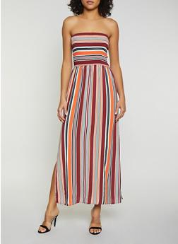 Striped Smocked Tube Maxi Dress | 1094075170022 - 1094075170022