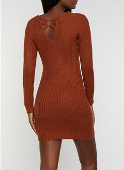 Caged O Ring Back Sweater Dress - 1094075172090