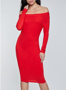 Bodycon Off the Shoulder Dress - 1094075173269