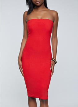 Solid Tube Dress - 1094075173270