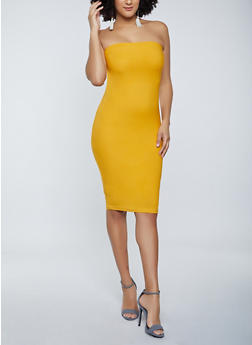 Solid Tube Dress - 1094075173270