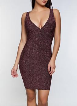 Criss Cross Back Lurex Dress - 1096058750406