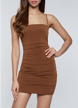 Ruched Bodycon Dress - 1096058750588