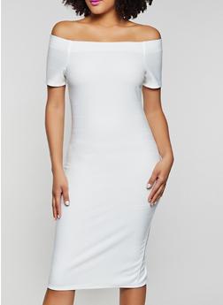 Off the Shoulder Bandage Dress - 1096058750650