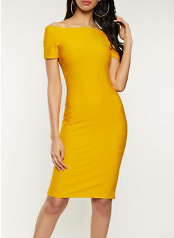 Off the Shoulder Bandage Dress - 1096058750650