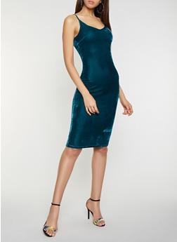 Crushed Velvet Bodycon Dress - 1096058752200