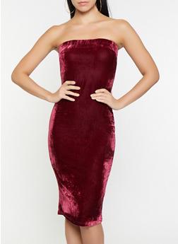 Velvet Tube Dress - 1096058752201