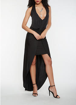 Knot Front Halter Dress - 1096058752729