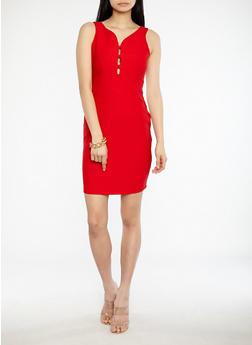 Zip Back Bandage Dress - 1096058753497