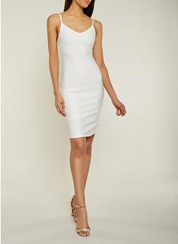 V Neck Bandage Dress - 1096058754122