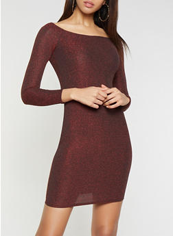 Shimmer Knit Bodycon Dress - 1096058754625