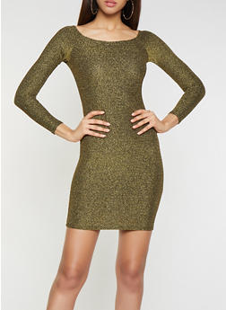 Shimmer Knit Bodycon Dress - 1096058754625