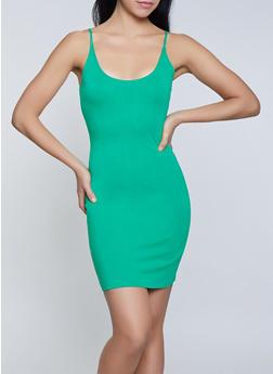 Solid Ponte Knit Bodycon Dress - 1096058754631