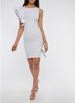Asymmetrical Ruffle Dress - 1096062126921