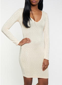 Studded Bodycon Dress - 1096062127738