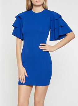 Tiered Sleeve Bodycon Dress - 1096062128600
