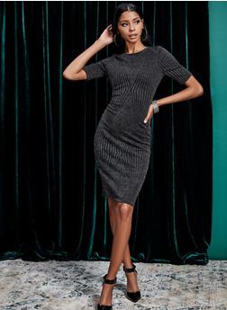 Shimmer Knit Midi Dress - 1096069390828
