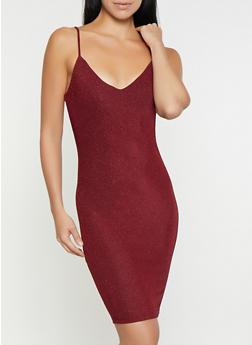 Glitter Knit Bodycon Dress - 1096069390850