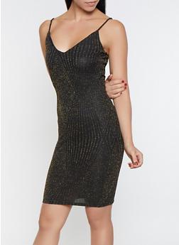 Glitter Knit Bodycon Dress - 1096069390852