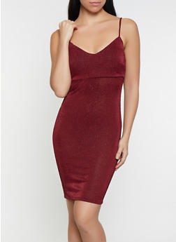Shimmer Striped Bodycon Dress - 1096069390982