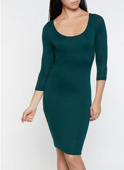 Scoop Neck Bodycon Dress - 1096069394057