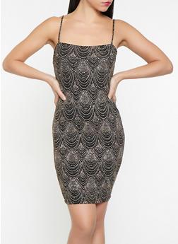 Glitter Knit Bodycon Dress - 1096069394061