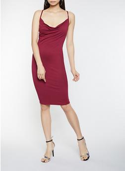 Sleeveless Bodycon Dress - 1096069394064