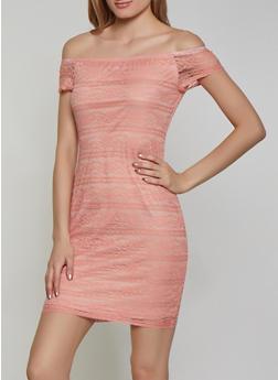Lace Off the Shoulder Dress - 1096074283517