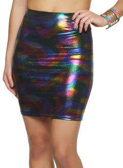 Rainbow Coated Pencil Skirt - 1097058751445