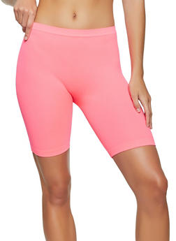 Rib Knit Bike Shorts - 1097058752440