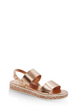 Double Strap Platform Sandals - 1110004062377