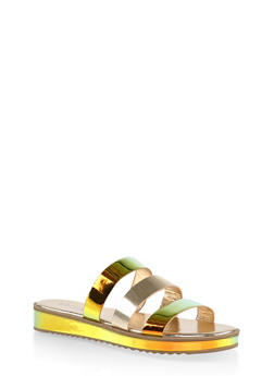 Triple Band Slide Sandals - 1110004062382