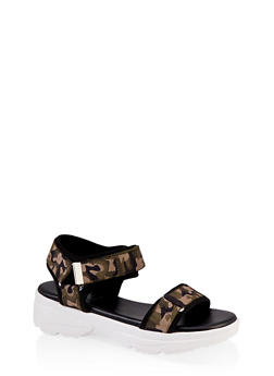 Elastic Band Sporty Sandals - 1110004063768