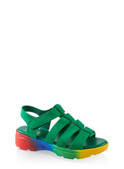Caged Sporty Platform Sandals - 1110004063771