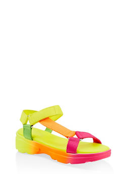 Velcro Strap Sporty Sandals - 1110004063782