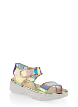 Two Band Platform Sandals - 1110004063783