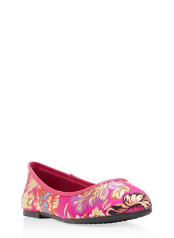 Pointed Toe Skimmer Flats - 1110004064665
