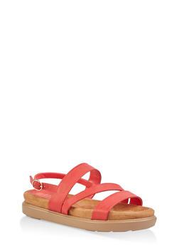 Strappy Foam Sandals - 1110004065454