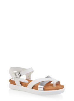 Toe Ring Footbed Sandals - 1110004065457