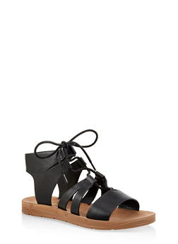 Lace Up Gladiator Sandals - 1110004066308