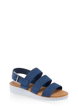 3 Band Buckle Sandals - 1110004067273