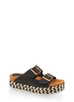 b7055bc8d3e9 Double Strap Platform Sandals - 1110004067475