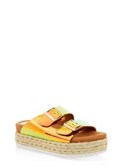 Double Strap Platform Sandals - 1110004067475