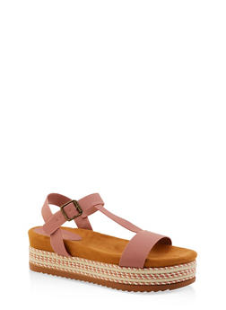 T Strap Platform Sandals - 1110004067476