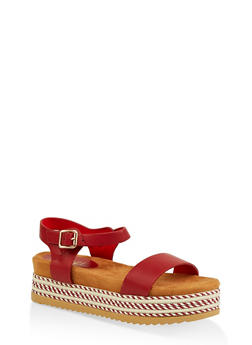 Ankle Strap Platform Slide Sandals - 1110004067477
