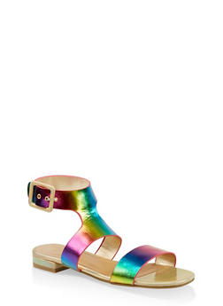 Two Band Ankle Strap Sandals - 1110004067690